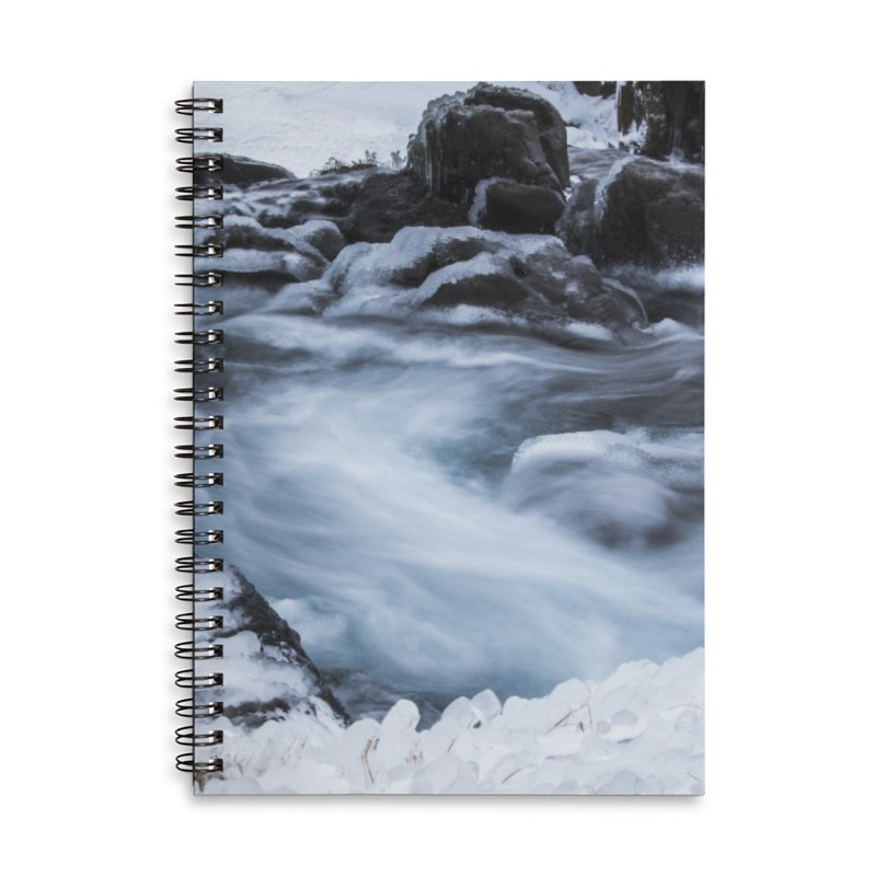 Frosty Lake Accessories Lined Spiral Notebook by ElfaFrid's Shop