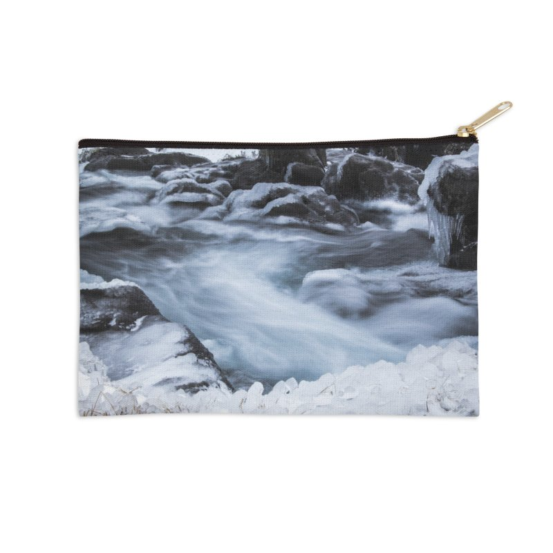Frosty Lake Accessories Zip Pouch by ElfaFrid's Shop