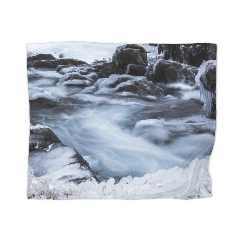 Frosty Lake Home Blanket by ElfaFrid's Shop