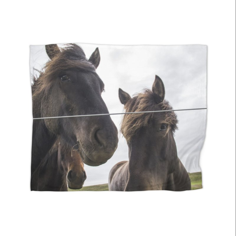 Horse Power Home Fleece Blanket Blanket by ElfaFrid's Shop