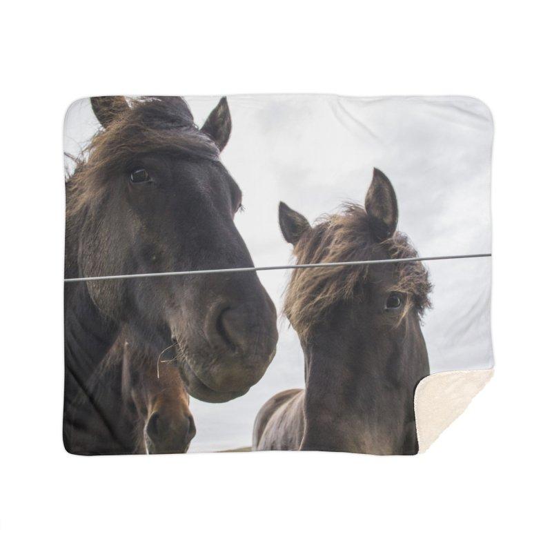 Horse Power Home Sherpa Blanket Blanket by ElfaFrid's Shop