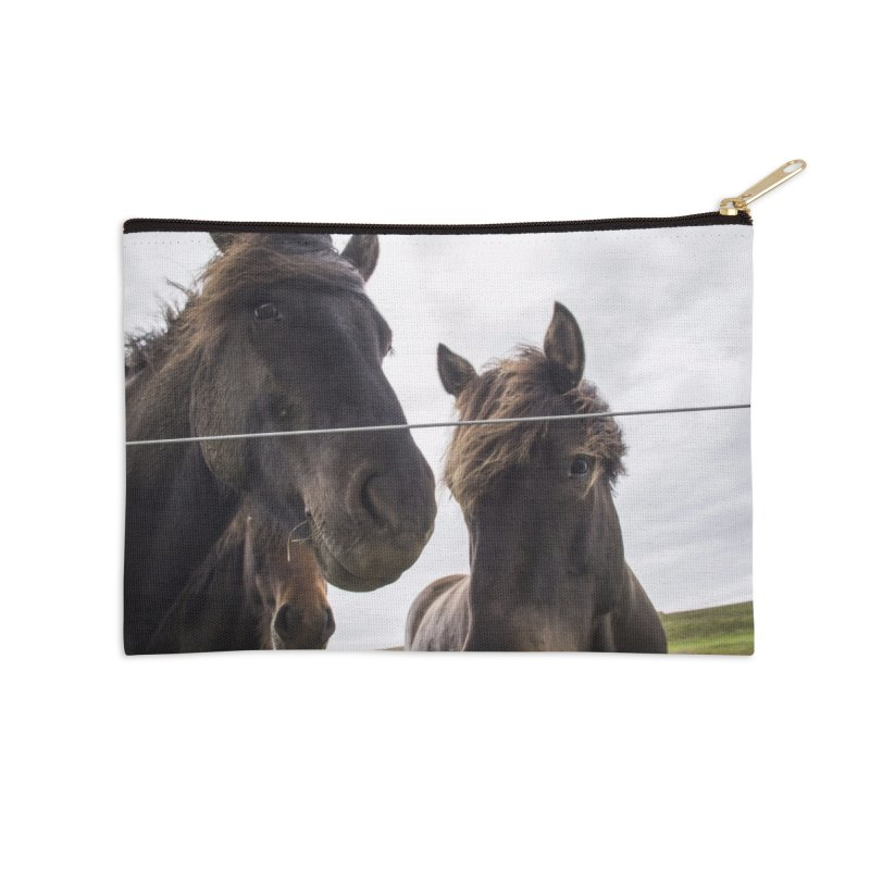 Horse Power Accessories Zip Pouch by ElfaFrid's Shop