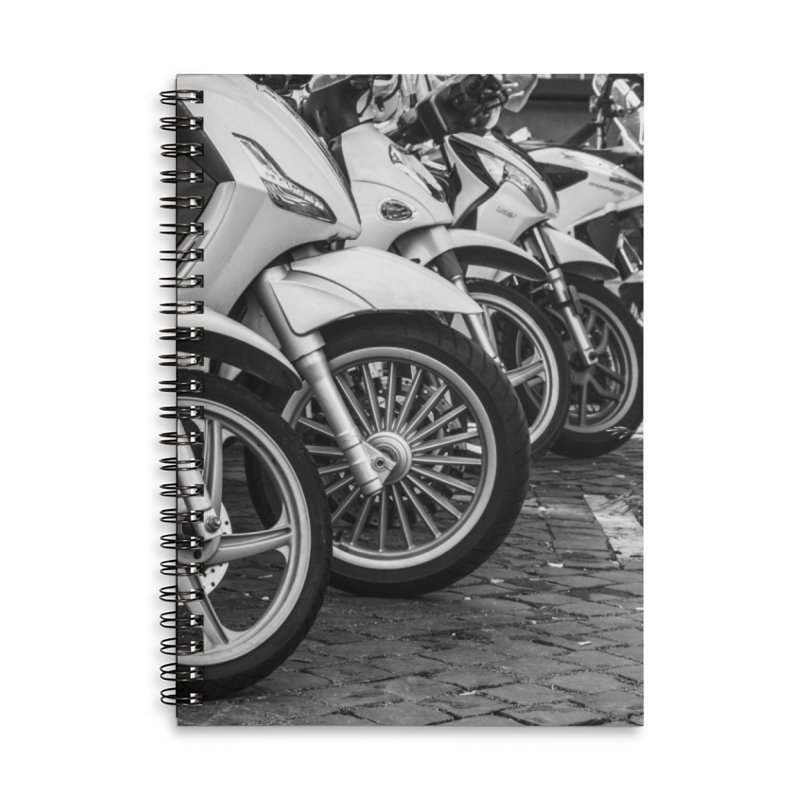 Waiting Wheels Accessories Lined Spiral Notebook by ElfaFrid's Shop
