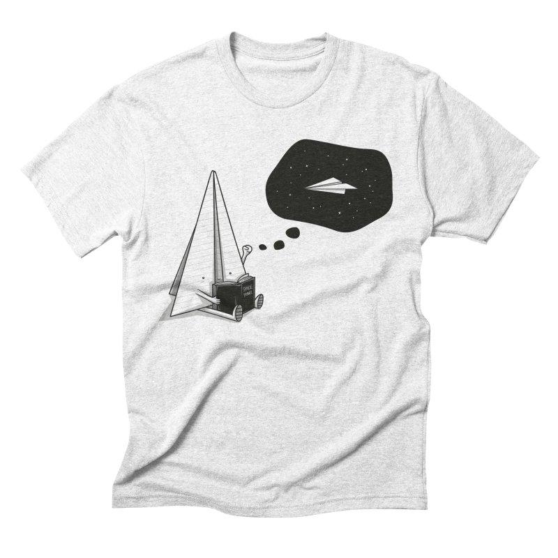 Beyond borders Men's Triblend T-shirt by Elia Colombo