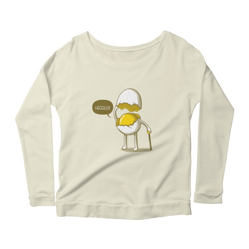 Heggllo! Women's Scoop Neck Longsleeve T-Shirt by Elia Colombo