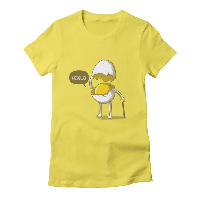 Heggllo! Women's Fitted T-Shirt by Elia Colombo