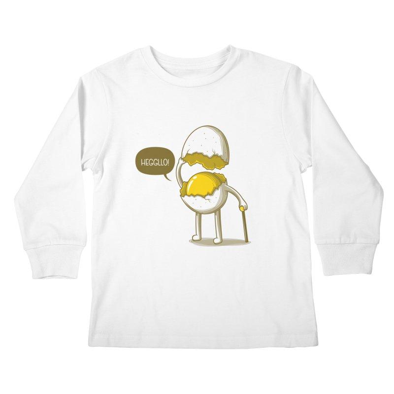 Heggllo! Kids Longsleeve T-Shirt by Elia Colombo