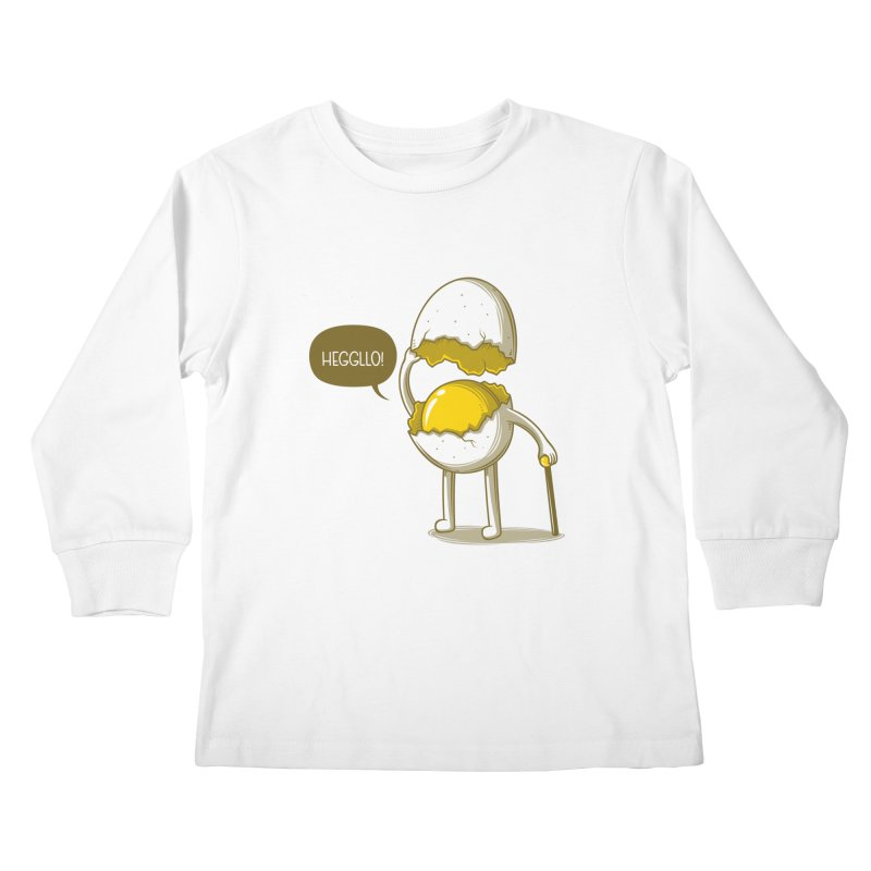 Heggllo! Kids Longsleeve T-Shirt by Elia Colombo