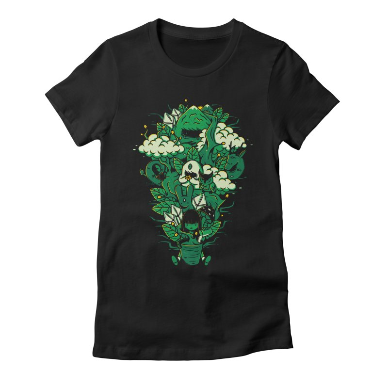Miracle of life Women's Fitted T-Shirt by Elia Colombo