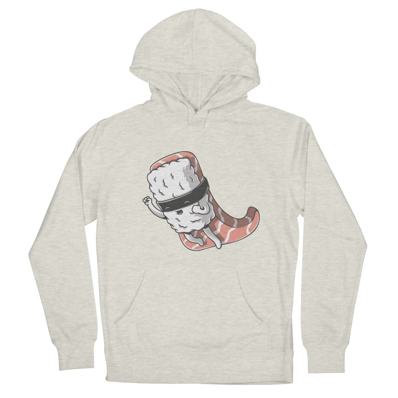Super sushi Men's French Terry Pullover Hoody by Elia Colombo