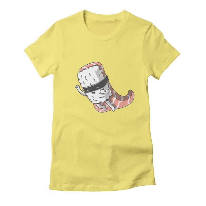 Super sushi Women's Fitted T-Shirt by Elia Colombo