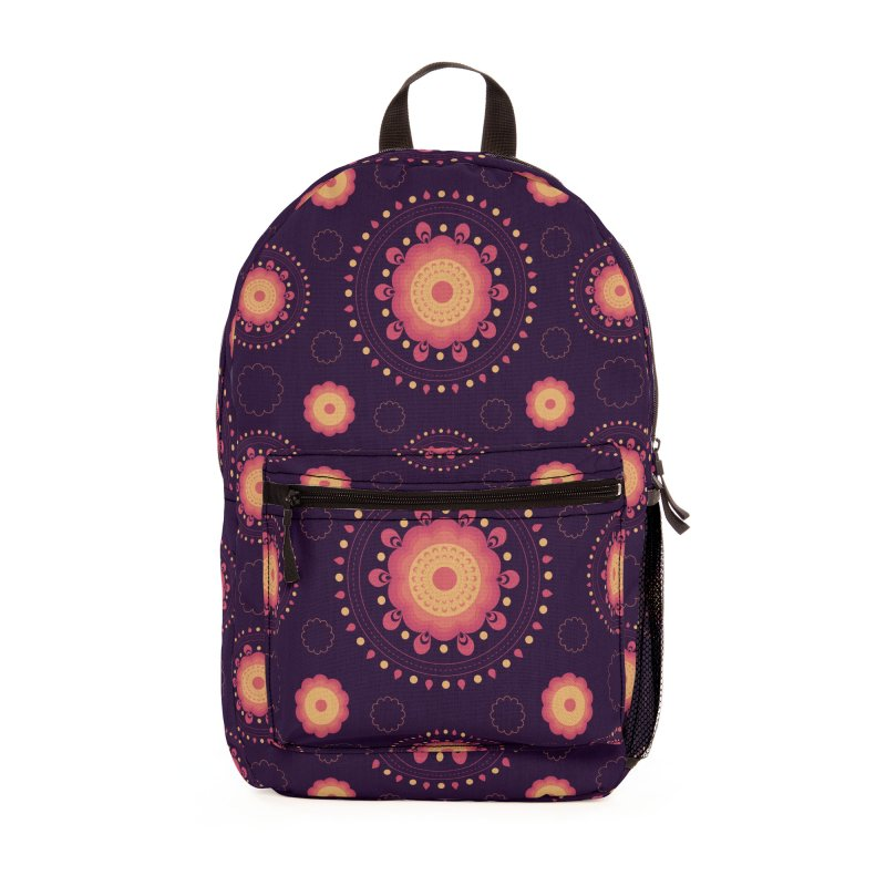 Lotus Flower Rangoli Accessories Bag by eligodesign's Artist Shop