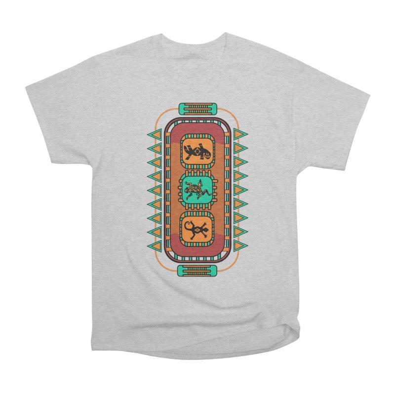 Lizard Glyphs Chest Plate Men's T-Shirt by eligodesign's Artist Shop