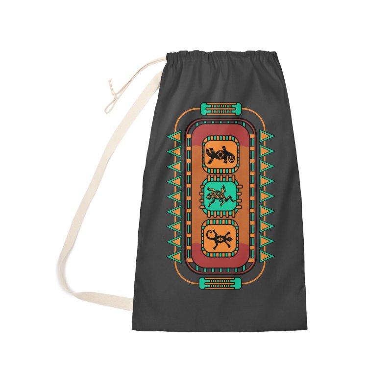 Lizard Glyphs Chest Plate Accessories Bag by eligodesign's Artist Shop