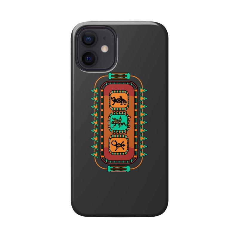 Lizard Glyphs Chest Plate Accessories Phone Case by eligodesign's Artist Shop