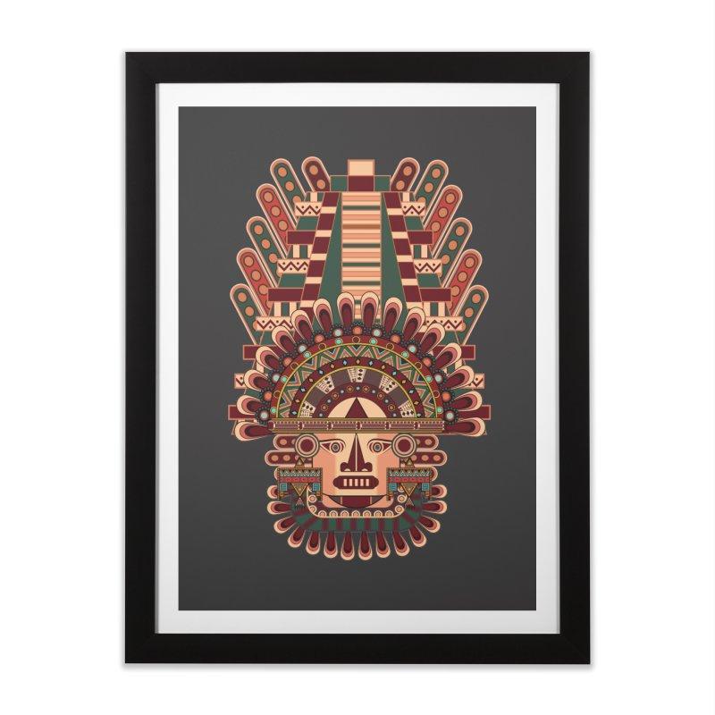 Mayan Deity Home Framed Fine Art Print by eligodesign's Artist Shop