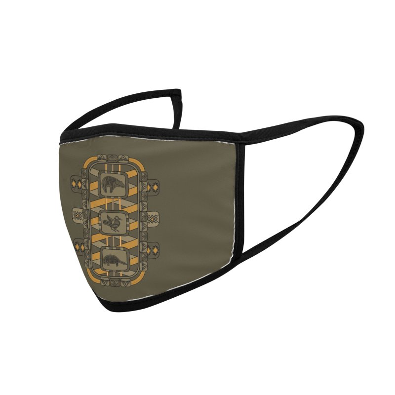 Animal Glyphs Chest Plate Accessories Face Mask by eligodesign's Artist Shop