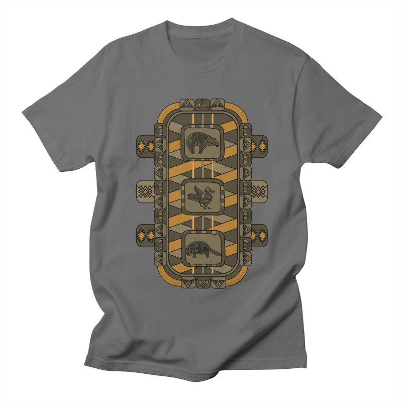 Animal Glyphs Chest Plate Men's T-Shirt by eligodesign's Artist Shop