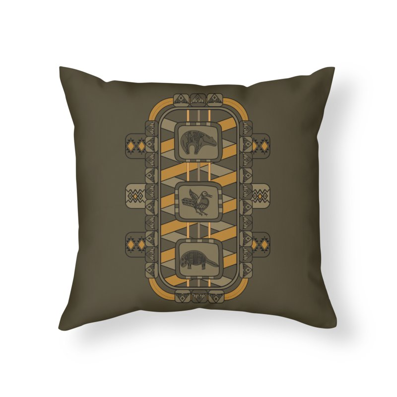 Animal Glyphs Chest Plate Home Throw Pillow by eligodesign's Artist Shop