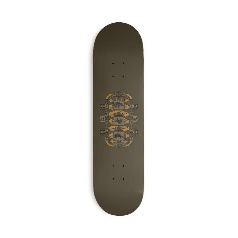Animal Glyphs Chest Plate Accessories Skateboard by eligodesign's Artist Shop