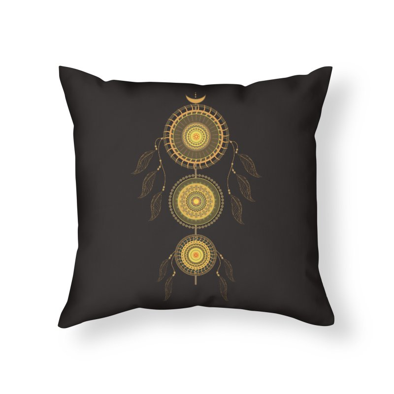 Dream Catcher Home Throw Pillow by eligodesign's Artist Shop