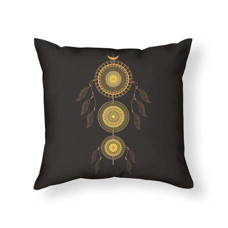 Dream Catcher Home Throw Pillow by eligodesign's Artist Shop