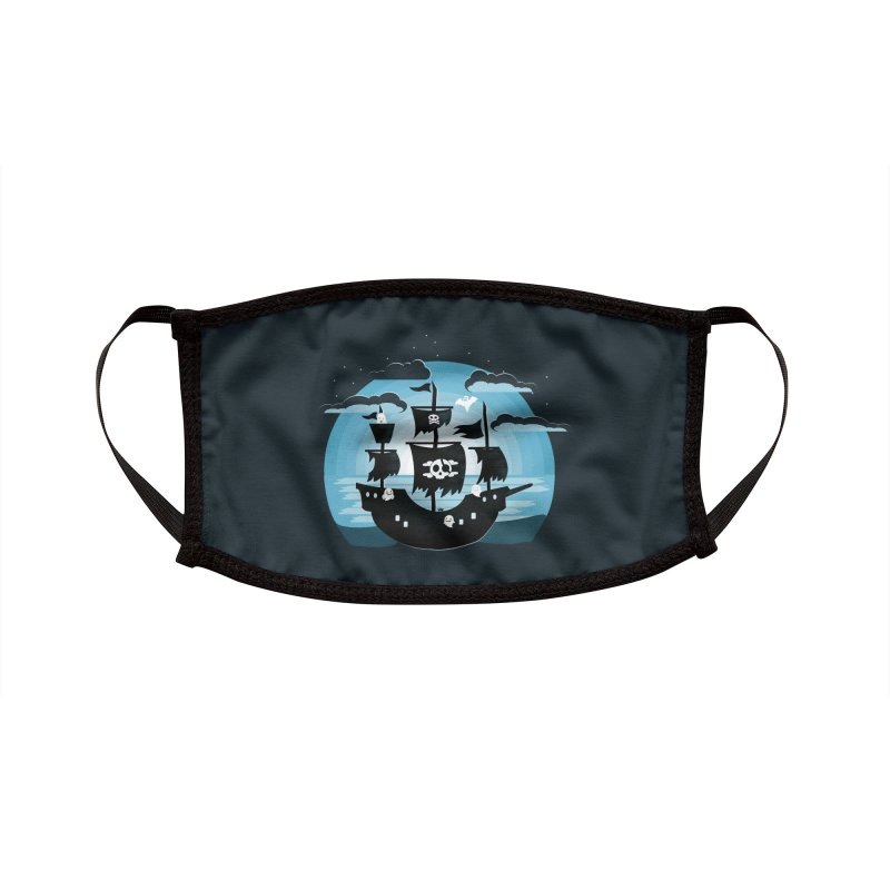 Ghost Ship Accessories Face Mask by eligodesign's Artist Shop