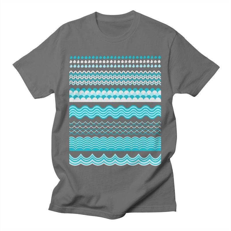 Water Shapes Men's T-Shirt by eligodesign's Artist Shop
