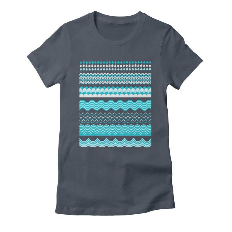 Water Shapes Women's T-Shirt by eligodesign's Artist Shop