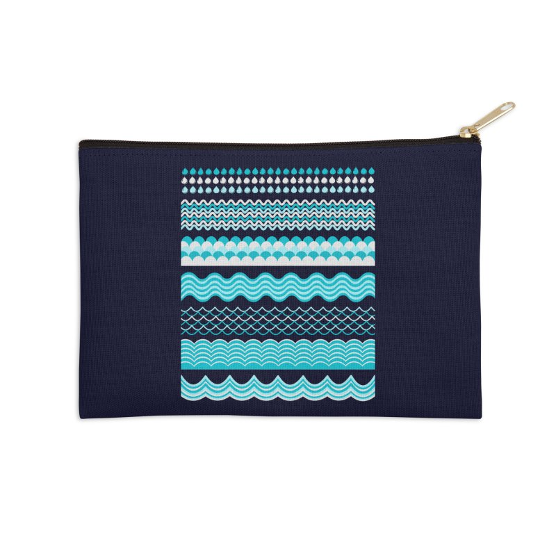 Water Shapes Accessories Zip Pouch by eligodesign's Artist Shop