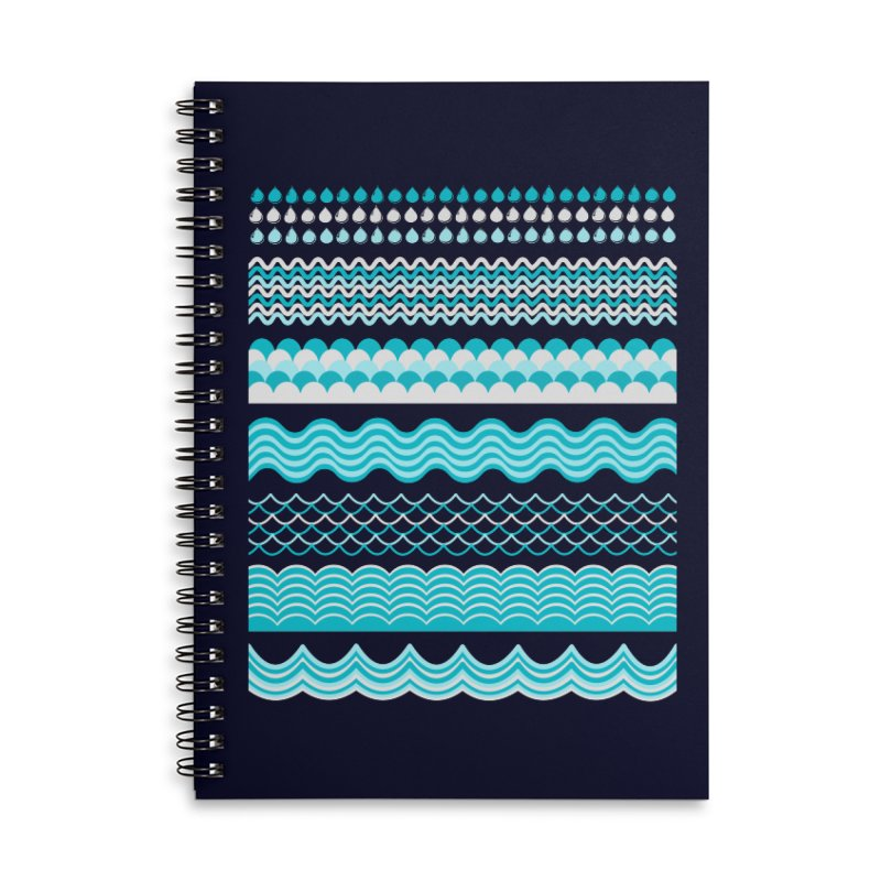 Water Shapes Accessories Notebook by eligodesign's Artist Shop