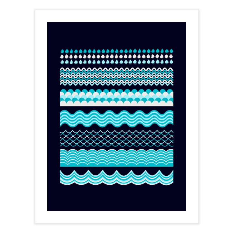 Water Shapes Home Fine Art Print by eligodesign's Artist Shop