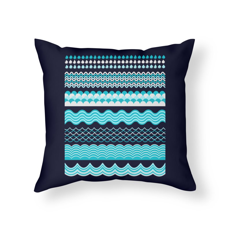 Water Shapes Home Throw Pillow by eligodesign's Artist Shop
