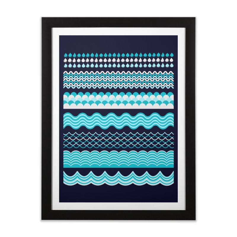 Water Shapes Home Framed Fine Art Print by eligodesign's Artist Shop
