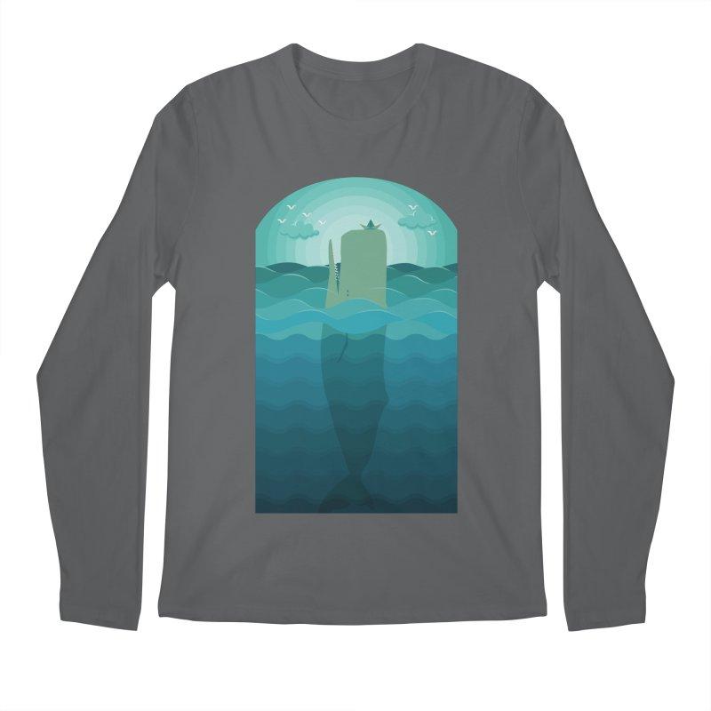 Playful Whale Men's Longsleeve T-Shirt by eligodesign's Artist Shop