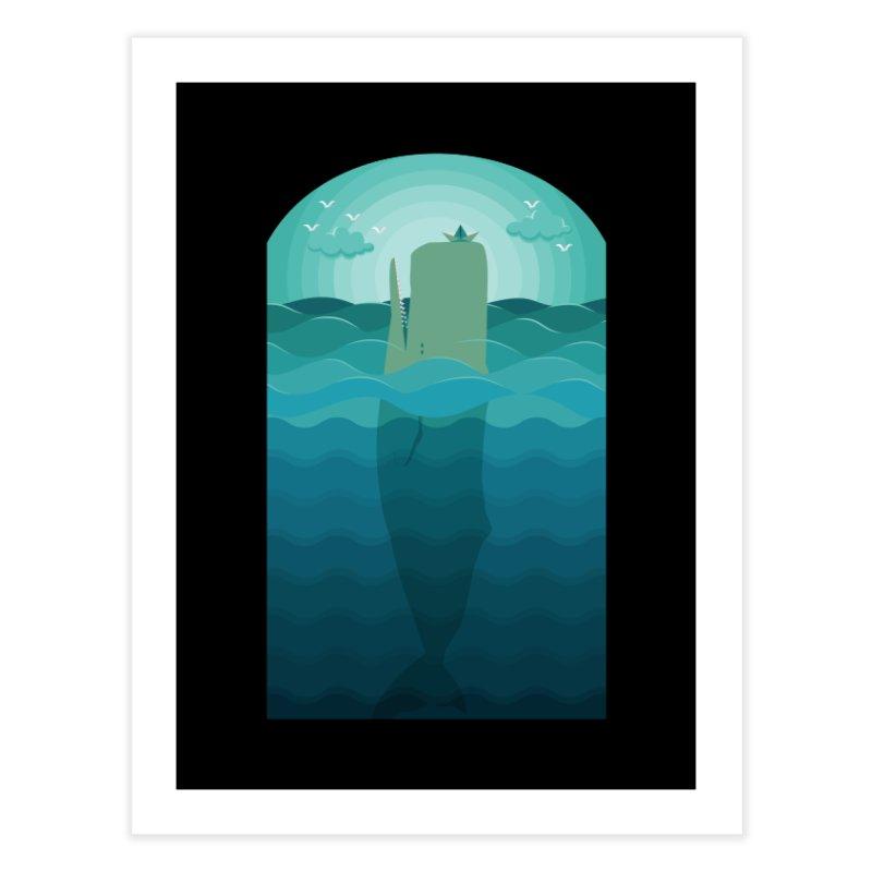 Playful Whale Home Fine Art Print by eligodesign's Artist Shop