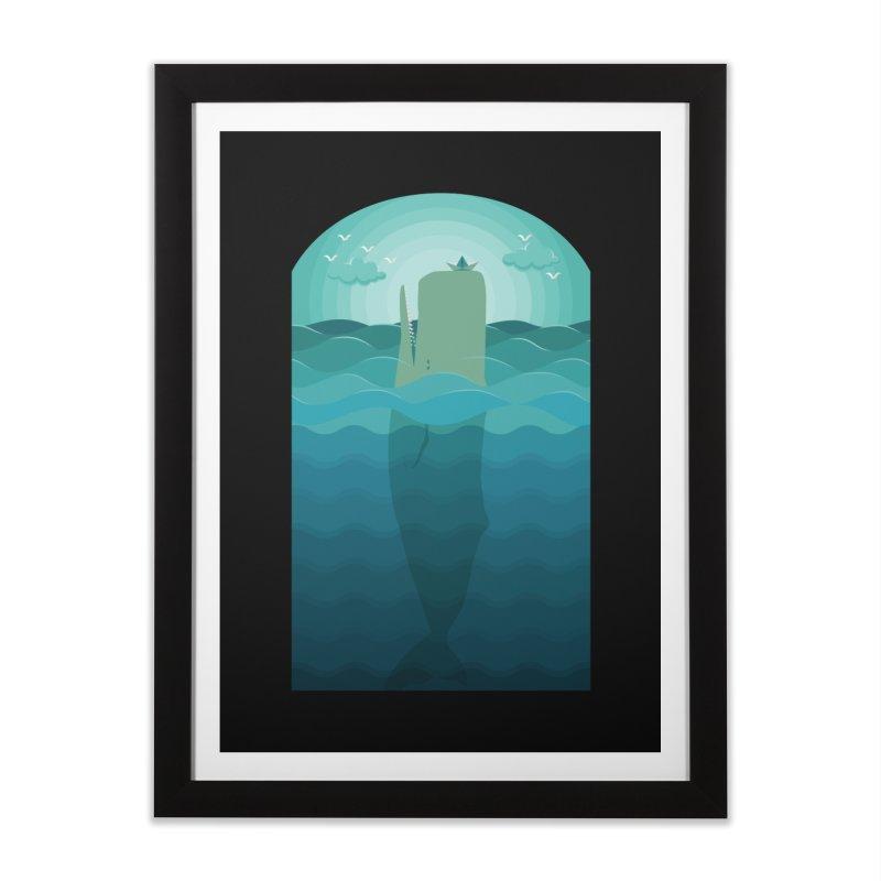 Playful Whale Home Framed Fine Art Print by eligodesign's Artist Shop