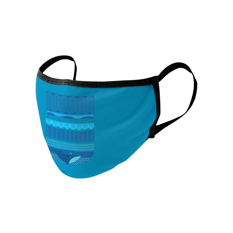 Ocean Theme Accessories Face Mask by eligodesign's Artist Shop