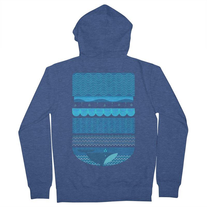Ocean Theme Men's Zip-Up Hoody by eligodesign's Artist Shop