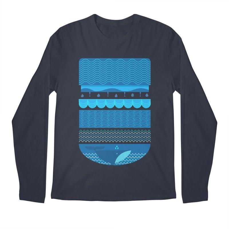 Ocean Theme Men's Longsleeve T-Shirt by eligodesign's Artist Shop