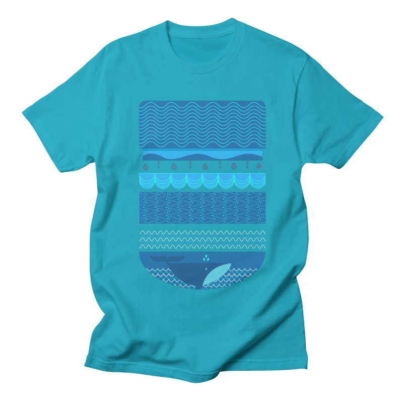 Ocean Theme Men's T-Shirt by eligodesign's Artist Shop