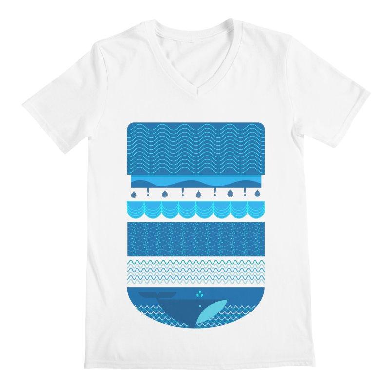 Ocean Theme Men's V-Neck by eligodesign's Artist Shop