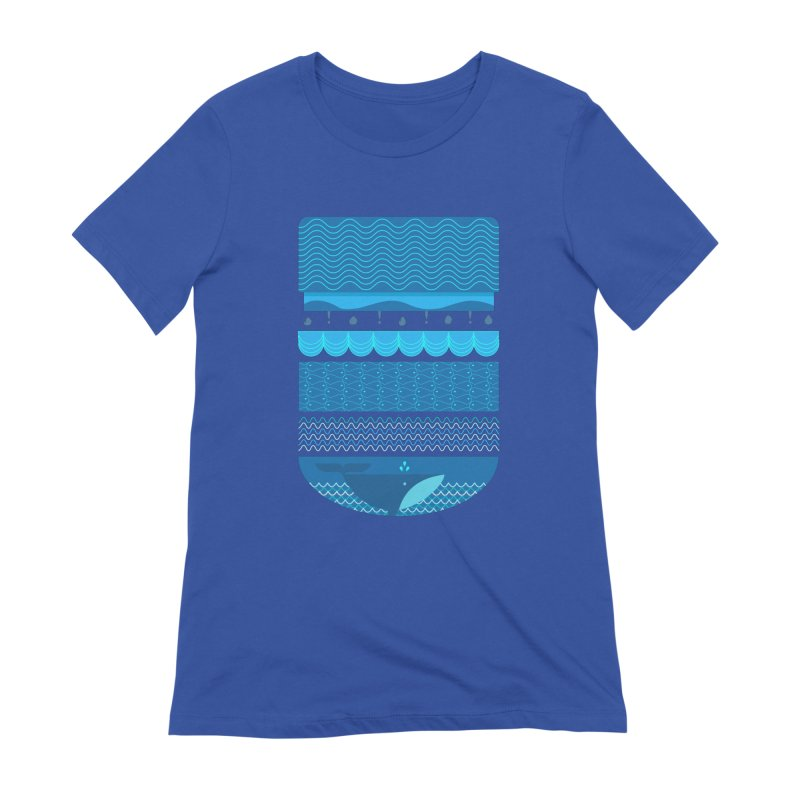 Ocean Theme Women's T-Shirt by eligodesign's Artist Shop