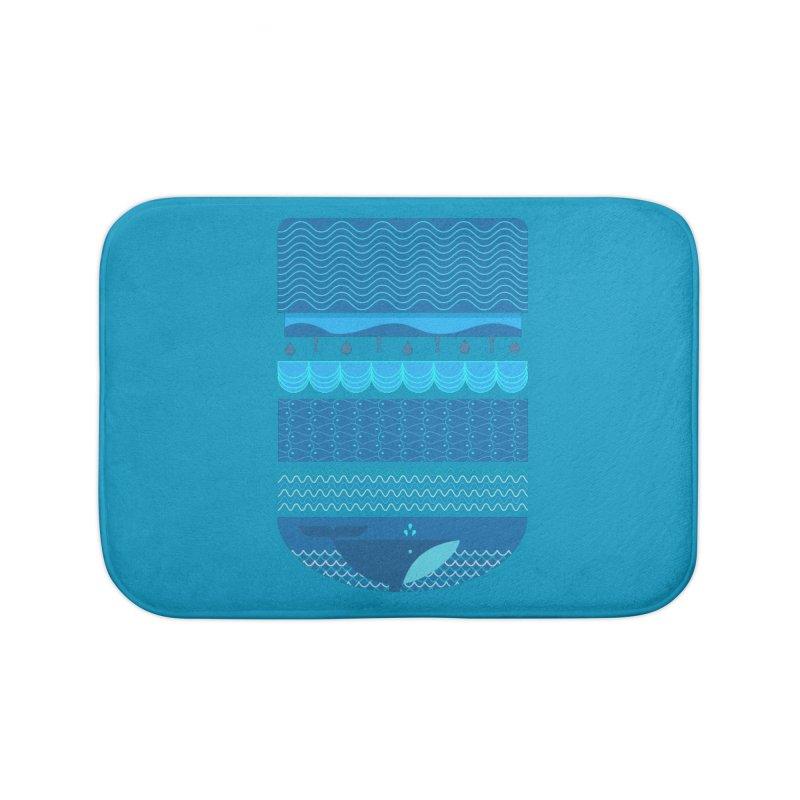 Ocean Theme Home Bath Mat by eligodesign's Artist Shop