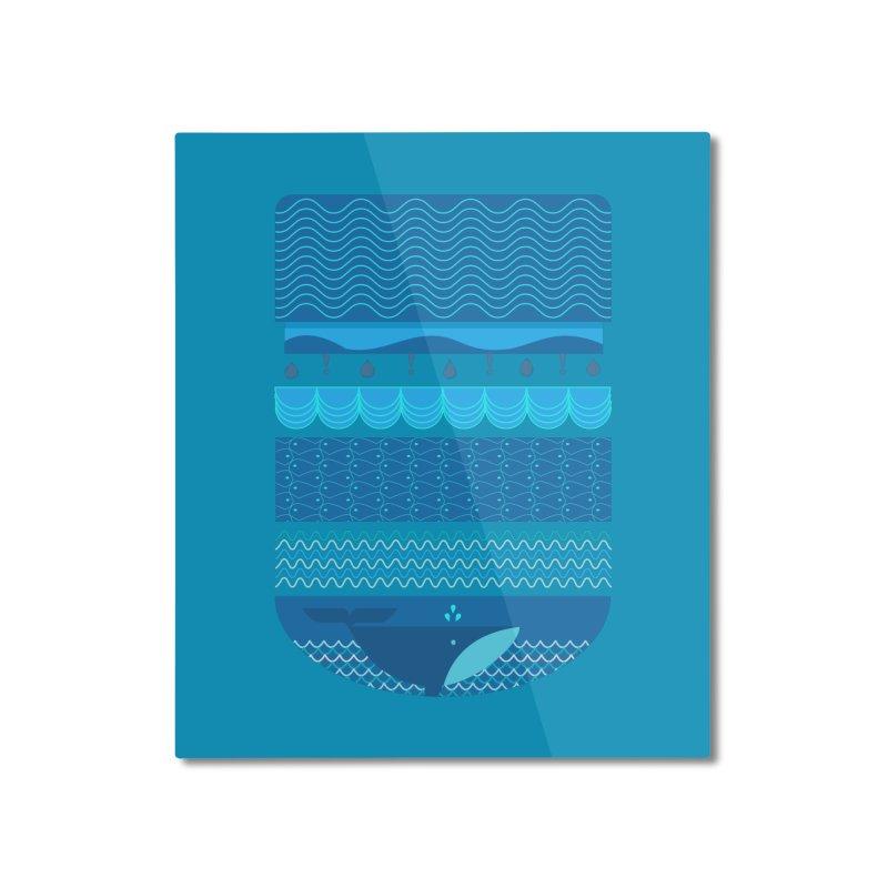 Ocean Theme Home Mounted Aluminum Print by eligodesign's Artist Shop