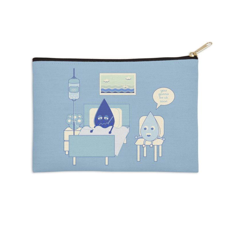Hospitalized Accessories Zip Pouch by eligodesign's Artist Shop