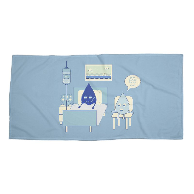 Hospitalized Accessories Beach Towel by eligodesign's Artist Shop