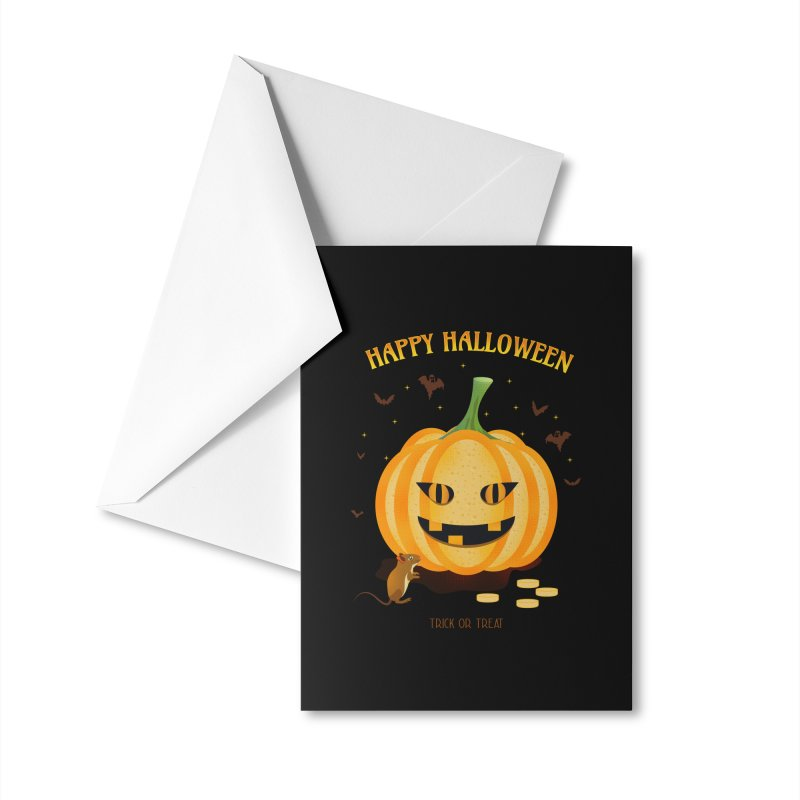 Trick or Treat Accessories Greeting Card by eligodesign's Artist Shop