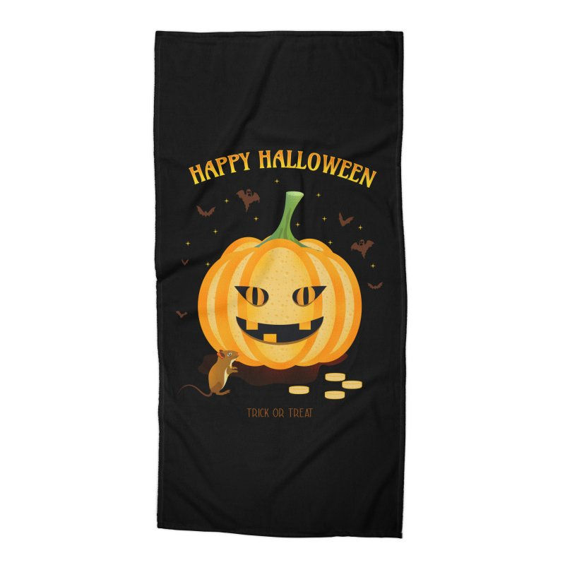 Trick or Treat Accessories Beach Towel by eligodesign's Artist Shop