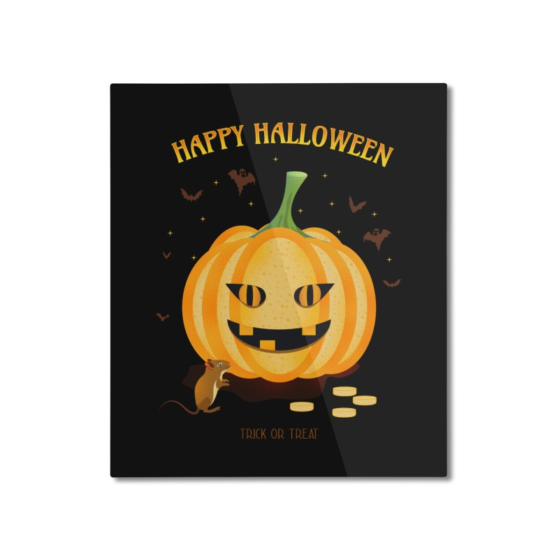 Trick or Treat Home Mounted Aluminum Print by eligodesign's Artist Shop
